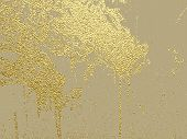Gold Grunge Texture To Create Distressed Effect. Patina Scratch Golden Elements. Vintage Abstract Il poster