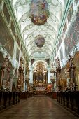 St. Peter Abbey Church inside. Salzburg, Austria