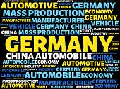 Germany - Image With Words Associated With The Topic Automotive Industry, Word, Image, Illustration poster