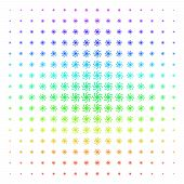 Spiral Galaxy Icon Spectral Halftone Pattern. Vector Spiral Galaxy Shapes Organized Into Halftone Gr poster