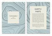 Line Topography Map Contour Banners With Space For Text. Abstract Lines Showing Elevation On Ground  poster