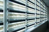 Window Fabric Blinds. Modern Luxury Interior Design poster