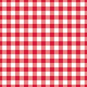 Red Checkered Textile Products. Texture Gingham Seamless Pattern. Vector Illustration Squares Or Rho poster