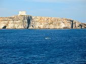 stock photo of square mile  - Comino is an island of the Maltese archipelago between the islands of Malta and Gozo in the Mediterranean Sea - JPG