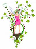 image of tinkerbell  - The beautiful fairy model with luxury dress - JPG