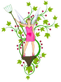 picture of tinkerbell  - The beautiful fairy model with luxury dress - JPG