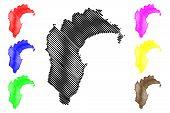 Hawkes Bay Region (regions Of New Zealand, North Island) Map Vector Illustration, Scribble Sketch Ha poster
