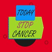 Text Sign Showing Stop Cancer. Conceptual Photo Prevent The Uncontrolled Growth Of Abnormal Cells In poster