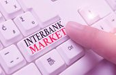 Word Writing Text Interbank Market. Business Concept For Forex Market Where Banks Exchange Different poster