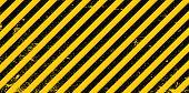 Industrial Background Warning Frame Grunge Yellow Black Diagonal Stripes, Vector Grunge Texture Warn poster