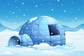 foto of igloo  - Illustration of an icy igloo - JPG