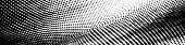 Abstract Monochrome Grunge Halftone Pattern. Soft Dynamic Lines. Half Tone Wide Vector Illustration  poster