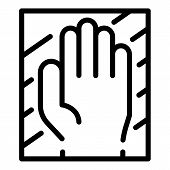 Hand Authentication Icon. Outline Hand Authentication Vector Icon For Web Design Isolated On White B poster