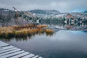 Strbske Pleso, Lake In High Tatras, Slovakia, Winter Scenery. poster