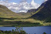 Gleann Bianasdail And Abhainn An Fhasaigh River  Viewed From Mountain Trail Across Loch Maree, Highl poster