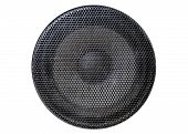 Music And Sound. Front View Of The Old Grey Sound System Speaker Isolated On White poster