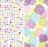 Set of seamless geometric and floral backgrounds