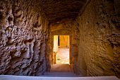 image of ptolemaic  - Steps in sunshine leading to the tombs of Kings in Pafos Cyprus - JPG