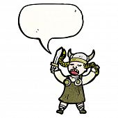 picture of valkyrie  - cartoon viking woman - JPG