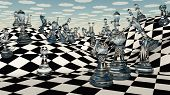 stock photo of chessboard  - Fantasy Chess - JPG