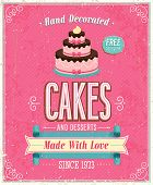 picture of fancy cakes  - Vintage Cakes Poster - JPG