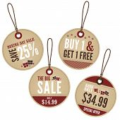picture of boxing day  - A set of vintage retail labels with a festive theme - JPG