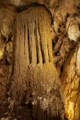 picture of oddities  - Stalagmites and stalactites in the underground cavern - JPG