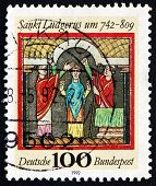 Postage Stamp Germany 1992 St. Ludgerus, Missionary