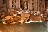 Trevi Fountain (Fontana di Trevi) by night, Rome.