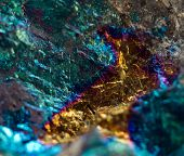 foto of iron pyrite  - Abstract background gold bronze copper iron - JPG