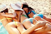 pic of sunbather  - summer holidays and vacation  - JPG