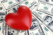 foto of american money  - Love and money concept - JPG