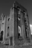 image of blast-furnace  - Ruins of an old blast furnace in Lithgow NSW - JPG