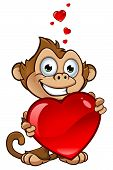 picture of cheeky  - A cartoon illustration of a cheeky monkey character - JPG