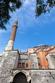 image of constantinople  - Exterior of Hagia Sofia church in Istanbul Constantinople Turkey - JPG