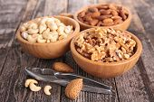 stock photo of walnut  - almond - JPG