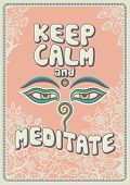 stock photo of calm  - Keep calm and meditate  - JPG