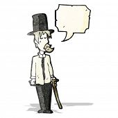 picture of untidiness  - cartoon untidy gentleman with speech bubble - JPG