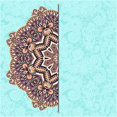 pic of doilies  - floral round pattern in ukrainian oriental ethnic style for your greeting card or invitation - JPG