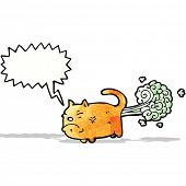 image of fart  - cartoon farting cat - JPG