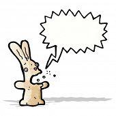 stock photo of belching  - burping rabbit cartoon - JPG