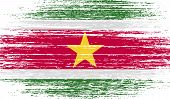 picture of suriname  - Flag of Suriname with old texture - JPG