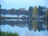 image of bohemia  - Autumn landscape by the lake - JPG