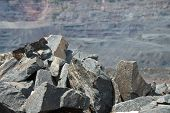 pic of mines  - Iron ore opencast mining - JPG