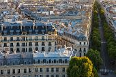 Постер, плакат: Paris Rooftops Aerial View
