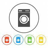 foto of washing-machine  - washing machine icon - JPG