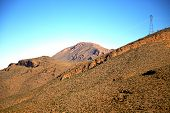 foto of atlas  - valley in africa morocco the atlas dry mountain ground isolated hill - JPG