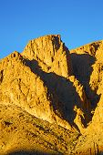 picture of atlas  - in todra africa morocco the atlas dry mountain - JPG