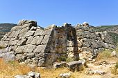 stock photo of argo  - Ancient Greek pyramid building at Peloponnesus - JPG
