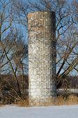 stock photo of silos  - An old - JPG